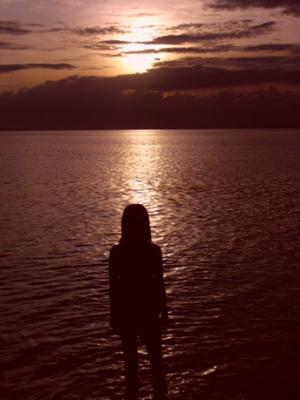 kaputian beach at sunset